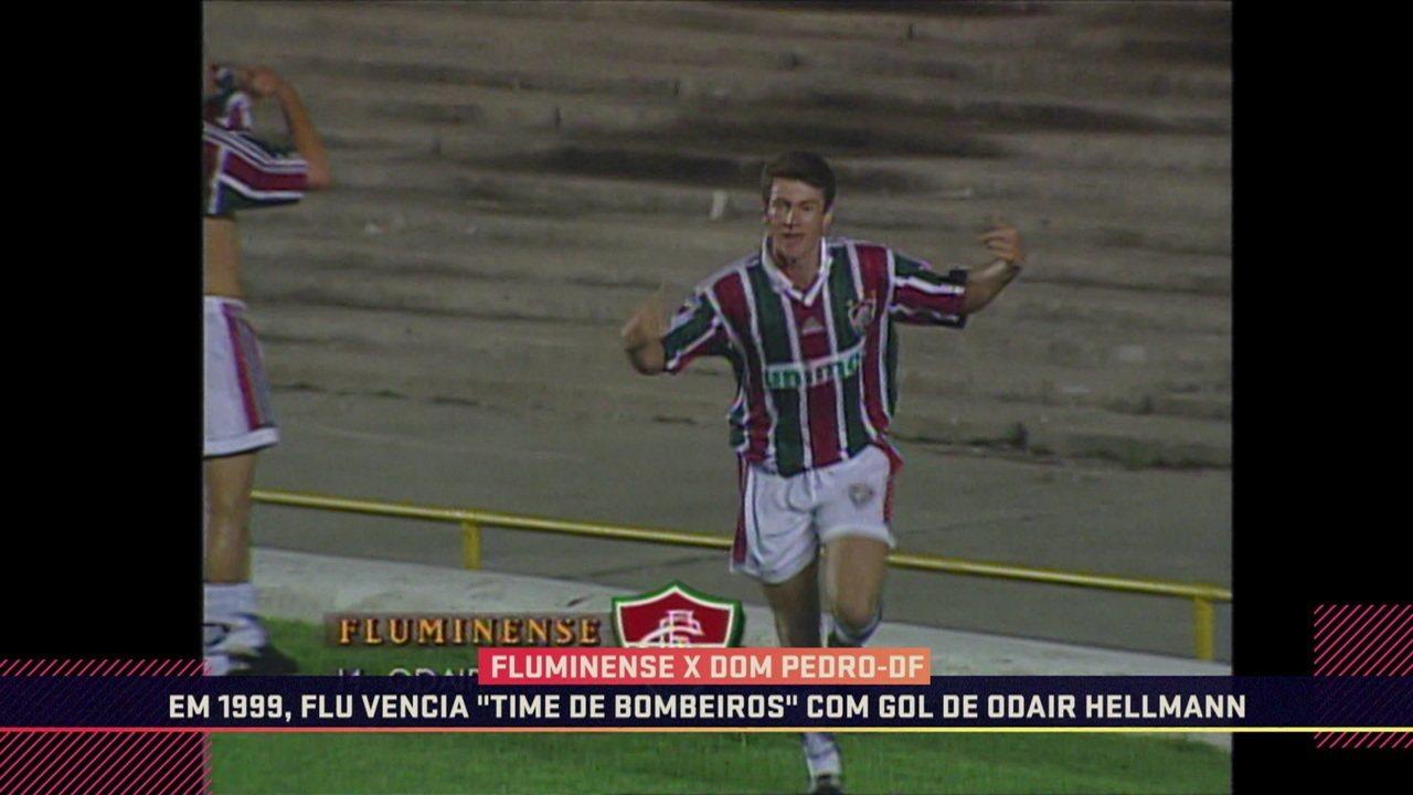 Com a camisa do Flu, Odair Hellmann já marcou contra um time de bombeiros do Rio