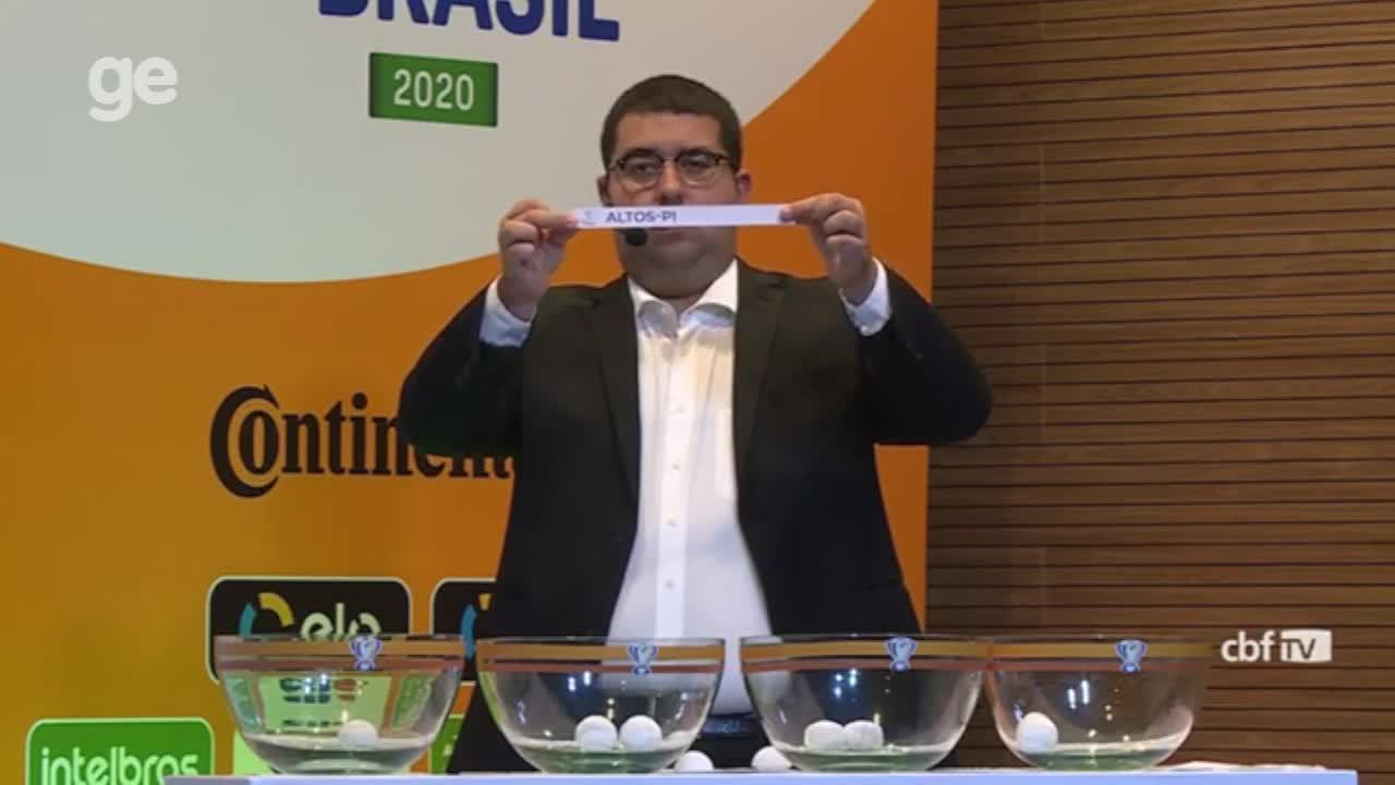 Confira os sorteios dos duelos de River-PI e Altos-PI para a Copa do Brasil 2020