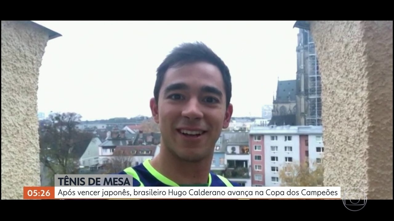 Após vencer japonês, brasileiro Hugo Calderano avança na Copa dos Campeões