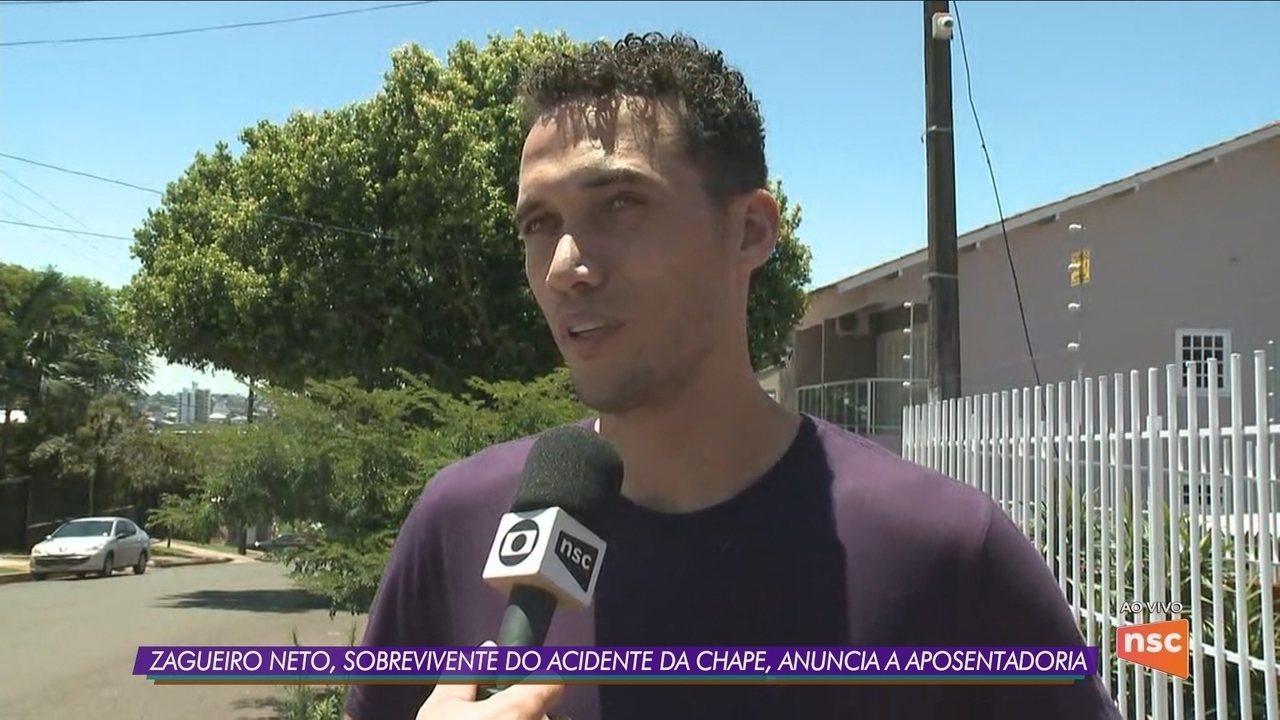 Sobrevivente da tragédia com avião da Chapecoense, zagueiro Neto anuncia aposentadoria