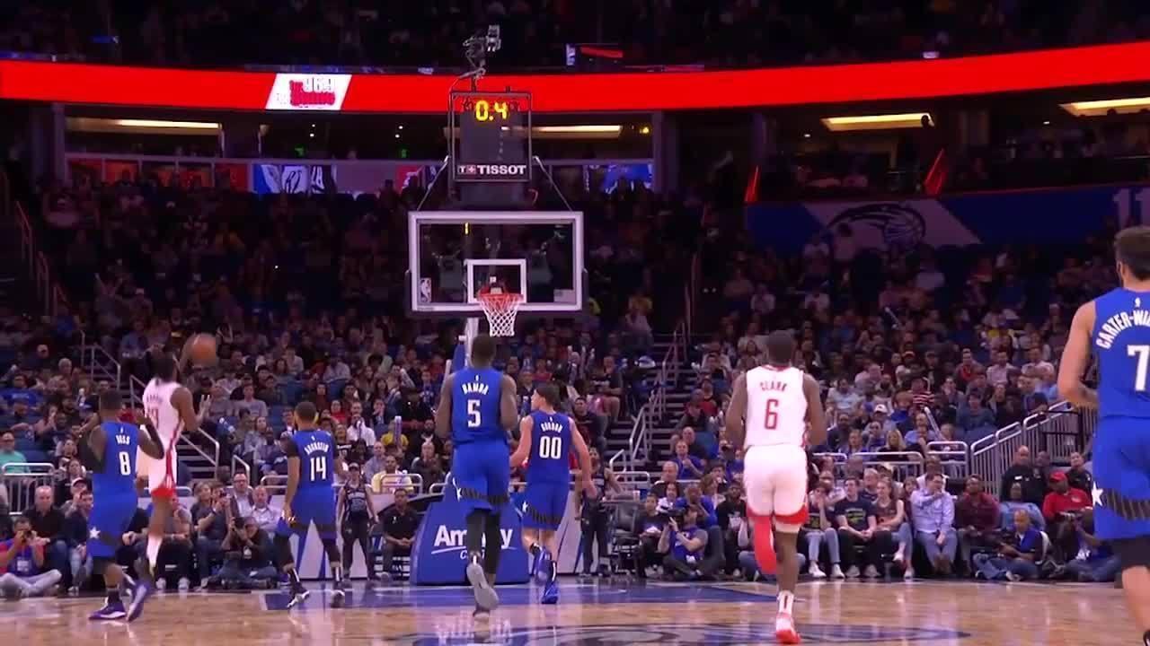 James Harden anota 54 pontos na vitória do Houston Rockets sobre o Orlando Magic
