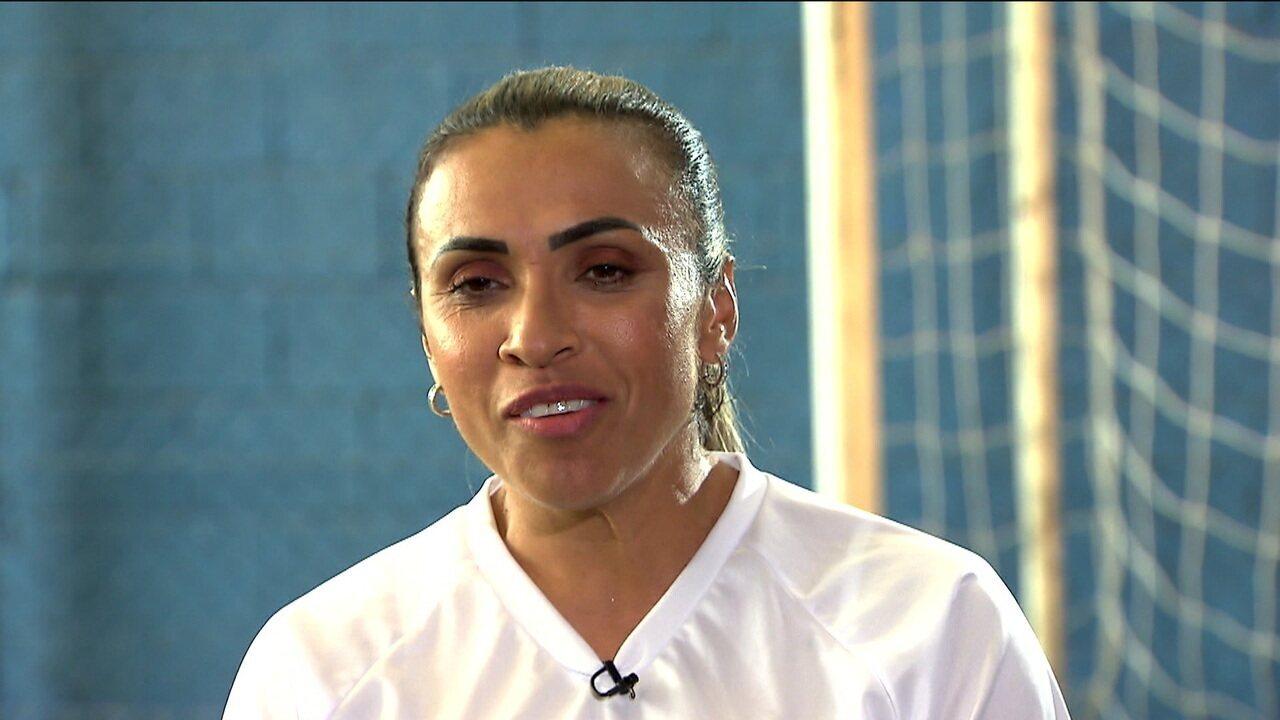 Marta fala com exclusividade ao Esporte Espetacular e responde a perguntas de internautas