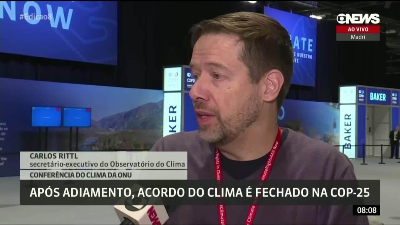 Brasil foi à COP25 negociar mercado de carbono e saiu sem recursos, diz Carlos Rittl