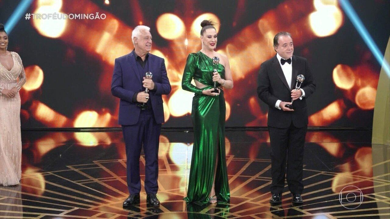 Antonio Fagundes, Claudia Raia e Tony Ramos recebem troféus especiais