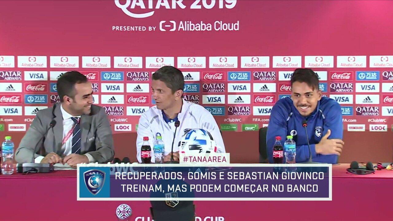 """Al Hilal treina com Giovinco e Gomis, e técnico diz: """"Não temos nada a perder"""""""