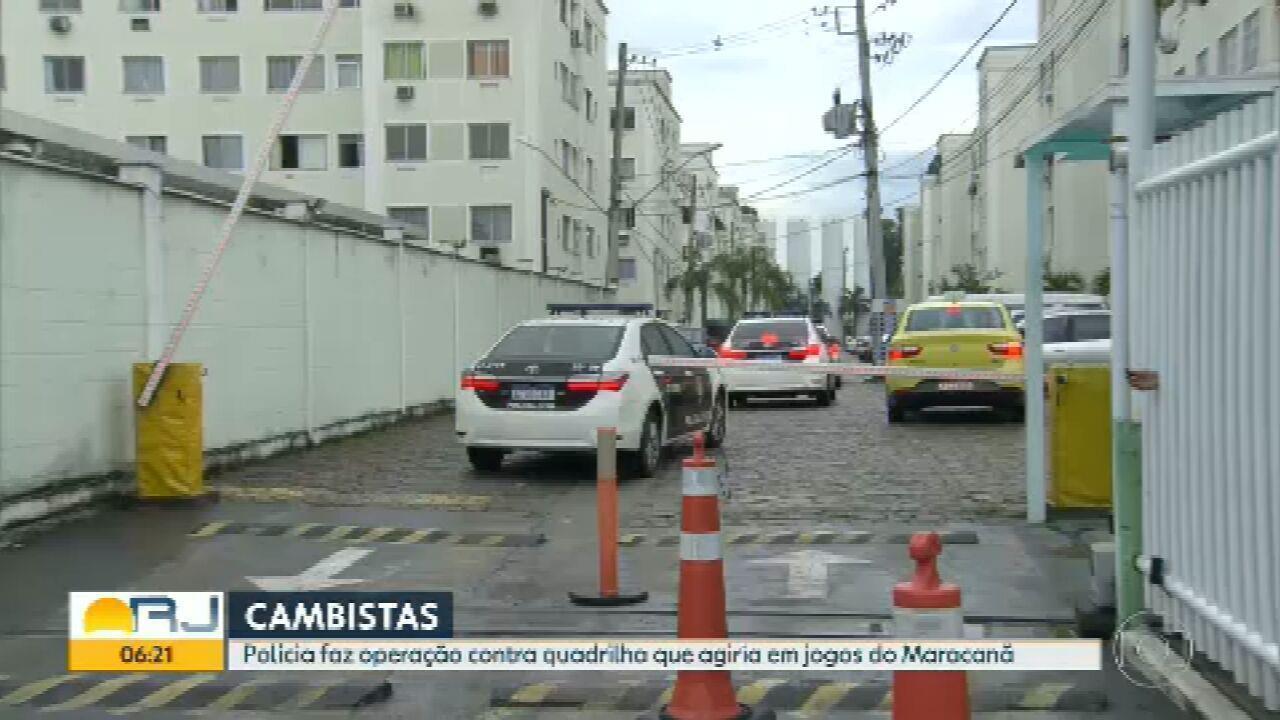 Polícia faz operação contra quadrilha de cambistas no Rio