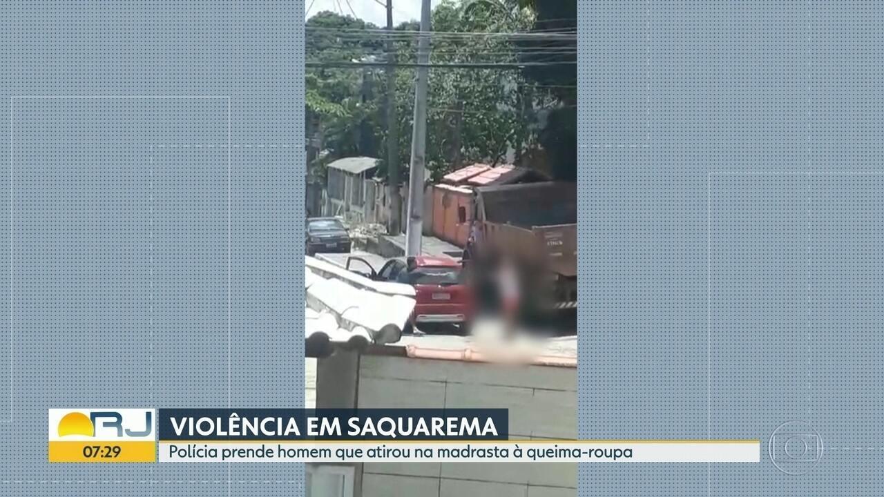 Homem é preso ao atirar na madrasta à queima-roupa, em Saquarema
