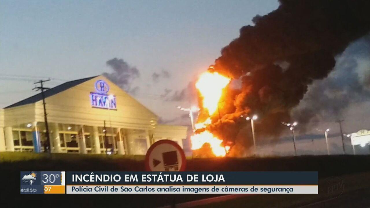 Estátua da Havan fica totalmente destruída após pegar fogo em São Carlos