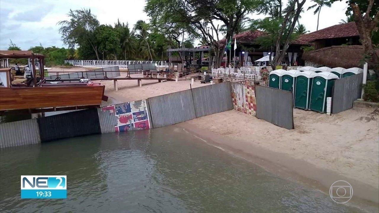 Moradores de Paulista reclamam de 'privatização' da praia de Maria Farinha