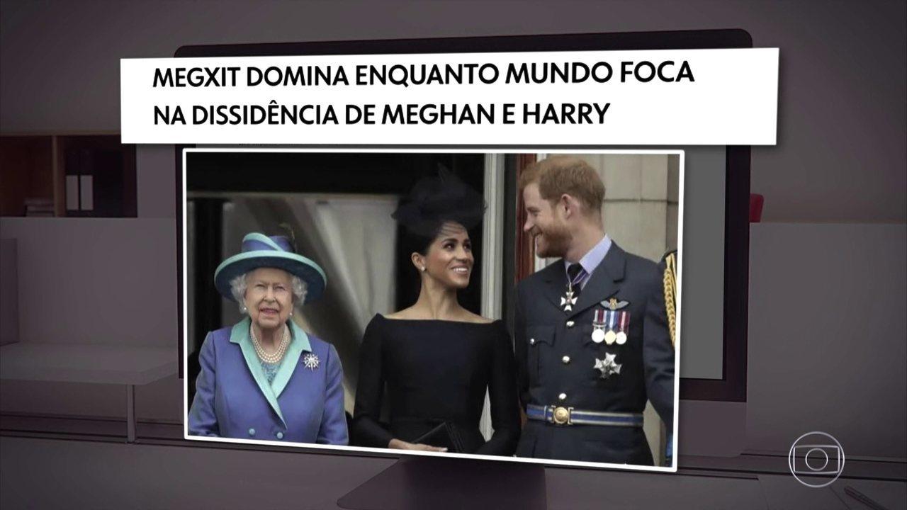 Príncipe Harry e a esposa Meghan Markel decidem renunciar da realeza