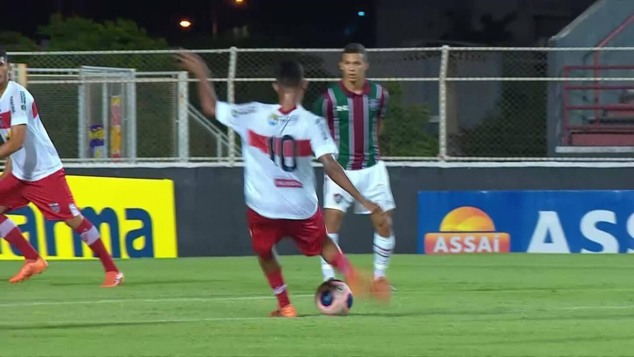 Prêmio Dener: Ruan, do CRB, contra o Fluminense