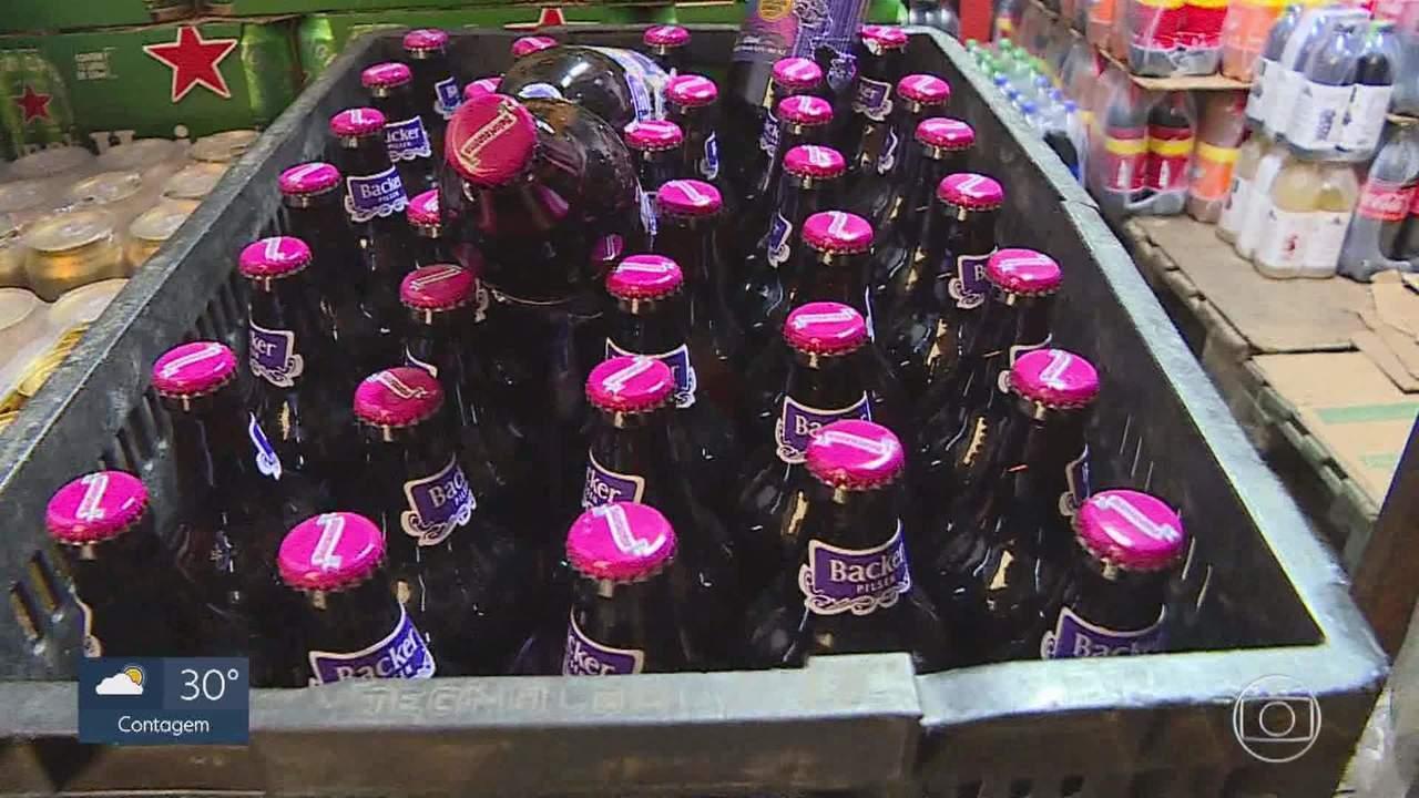 Polícia identifica mais um lote da cerveja 'Belorizontina' contaminado em MG