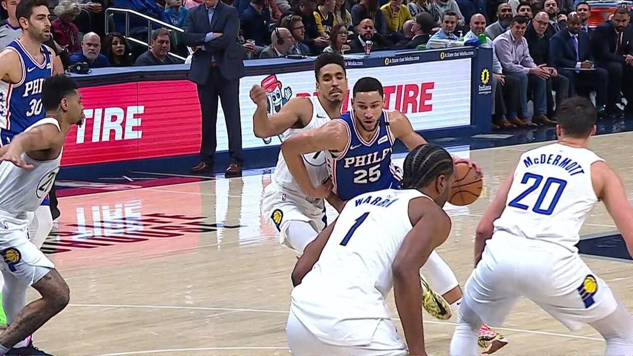 Melhores momentos de Philadelphia 76ers 95 x 101 Indiana Pacers pela NBA