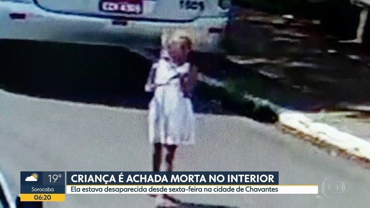 Criança desaparecida é encontrada morta