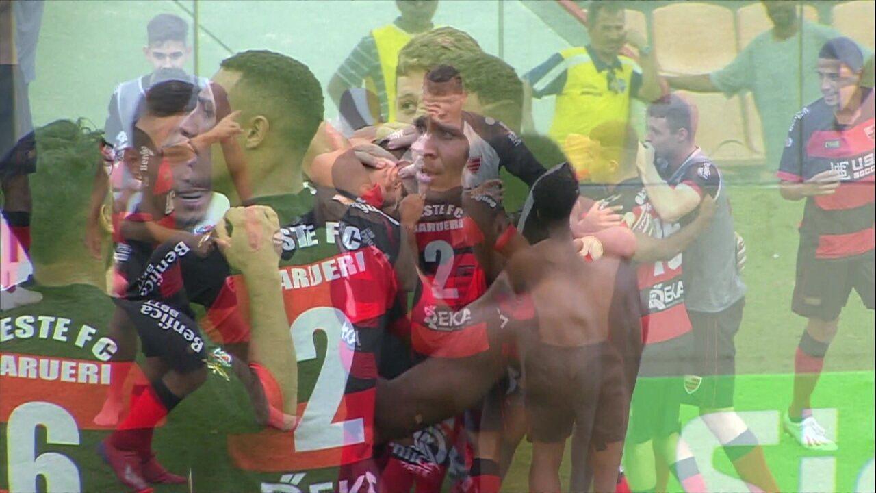 Os pênaltis de Avaí 0 (2) x (4) 0 Oeste pela Copa SP de Futebol Junior