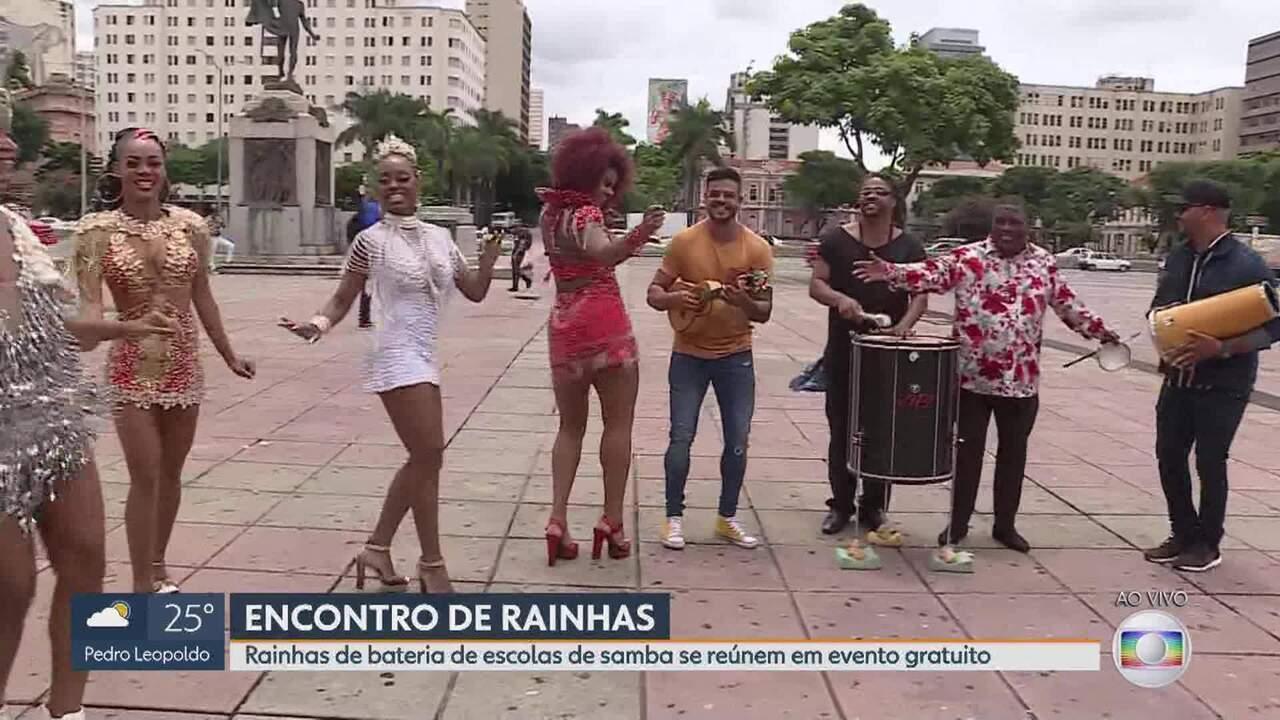 Rainhas de bateria de escolas de samba se reúnem em evento gratuito em BH