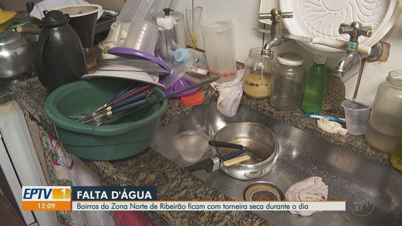 Moradores reclamam de falta d'água no Ipiranga em Ribeirão Preto