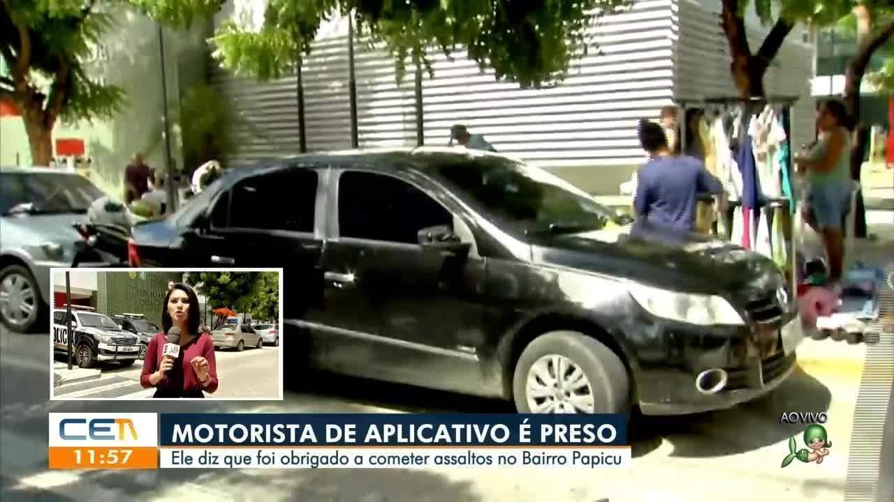 Motorista de aplicativo é preso suspeito de assaltar passageiro em Fortaleza