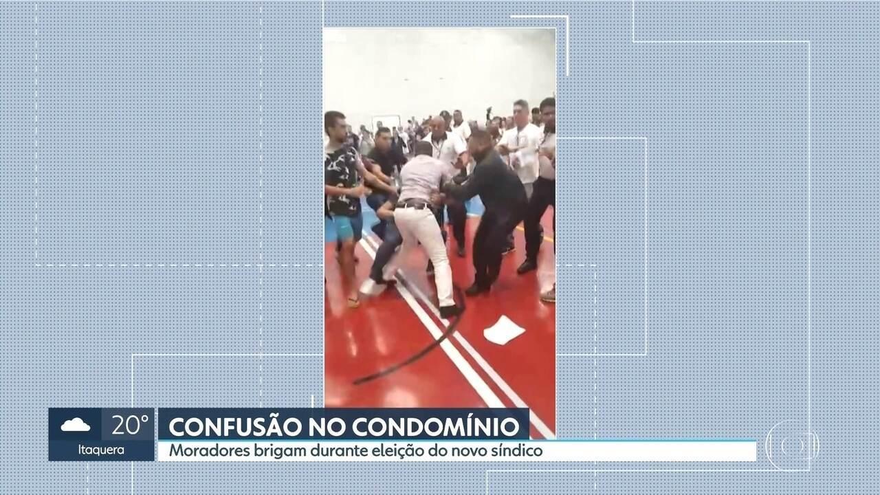 Moradores brigam em eleição de novo síndico em condomínio da Zona Norte de São Paulo