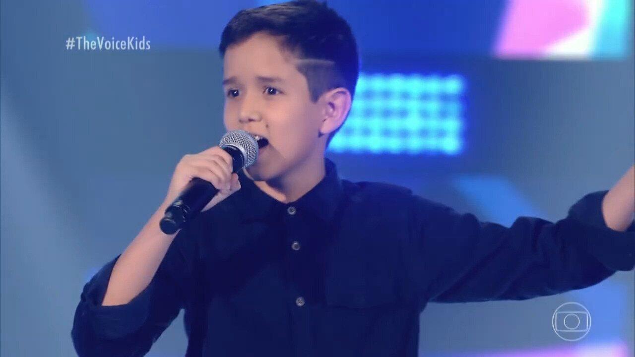 Conheça Artur Ortega e veja apresentação no 'The Voice Kids'