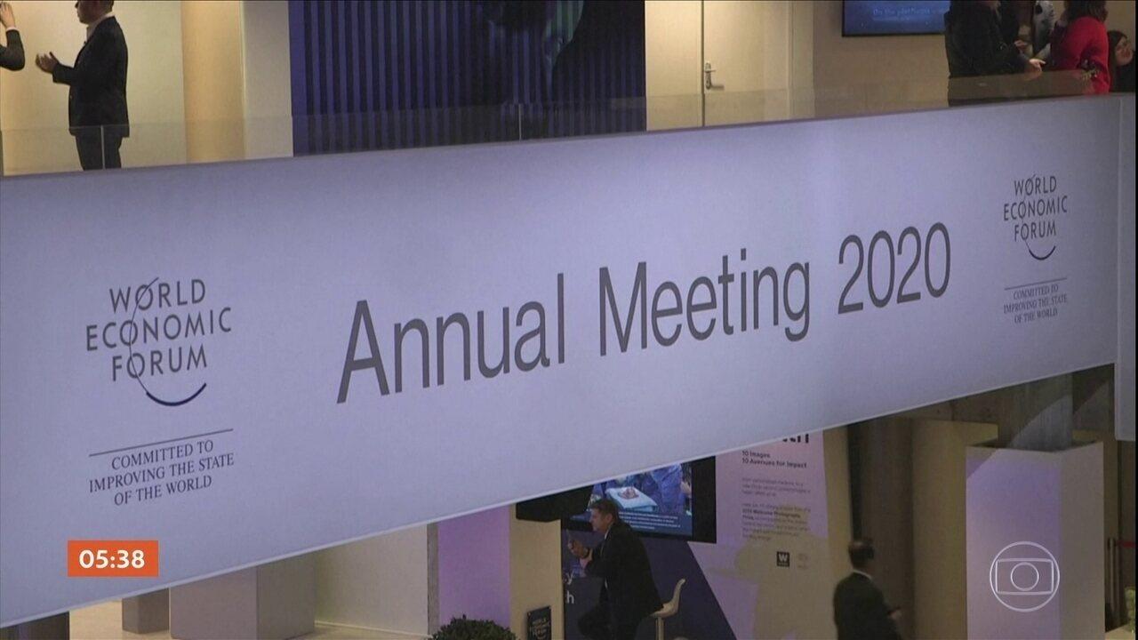Fórum Econômico Mundial de Davos começa nesta terça-feira (21)