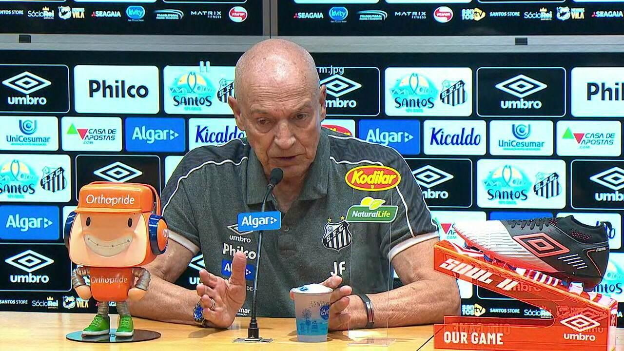Jesualdo analisa empate do Santos na estreia no Paulistão