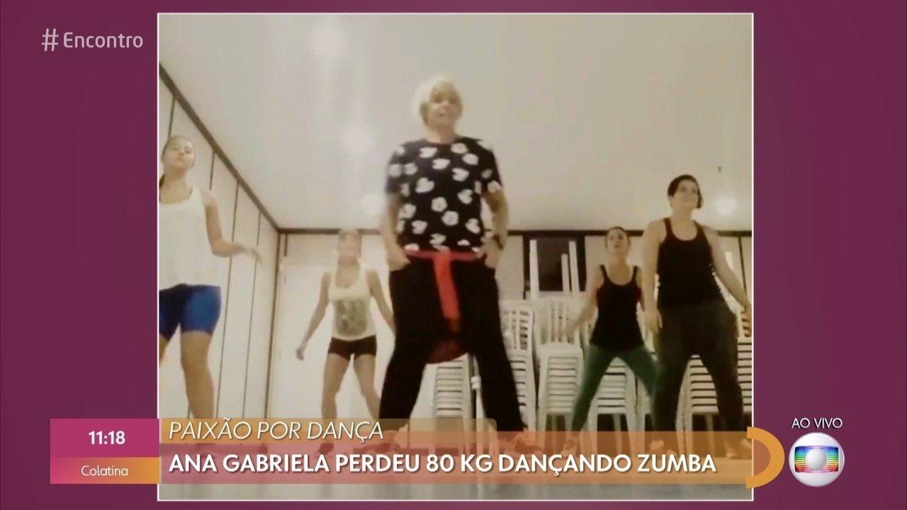 Ana Gabriela perdeu 80 Kg dançando zumba