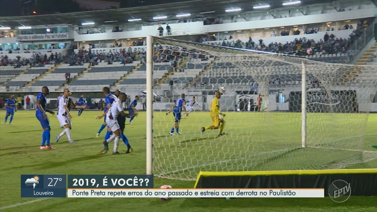 Ponte Preta falha na defesa e perde em casa na estreia do Paulistão