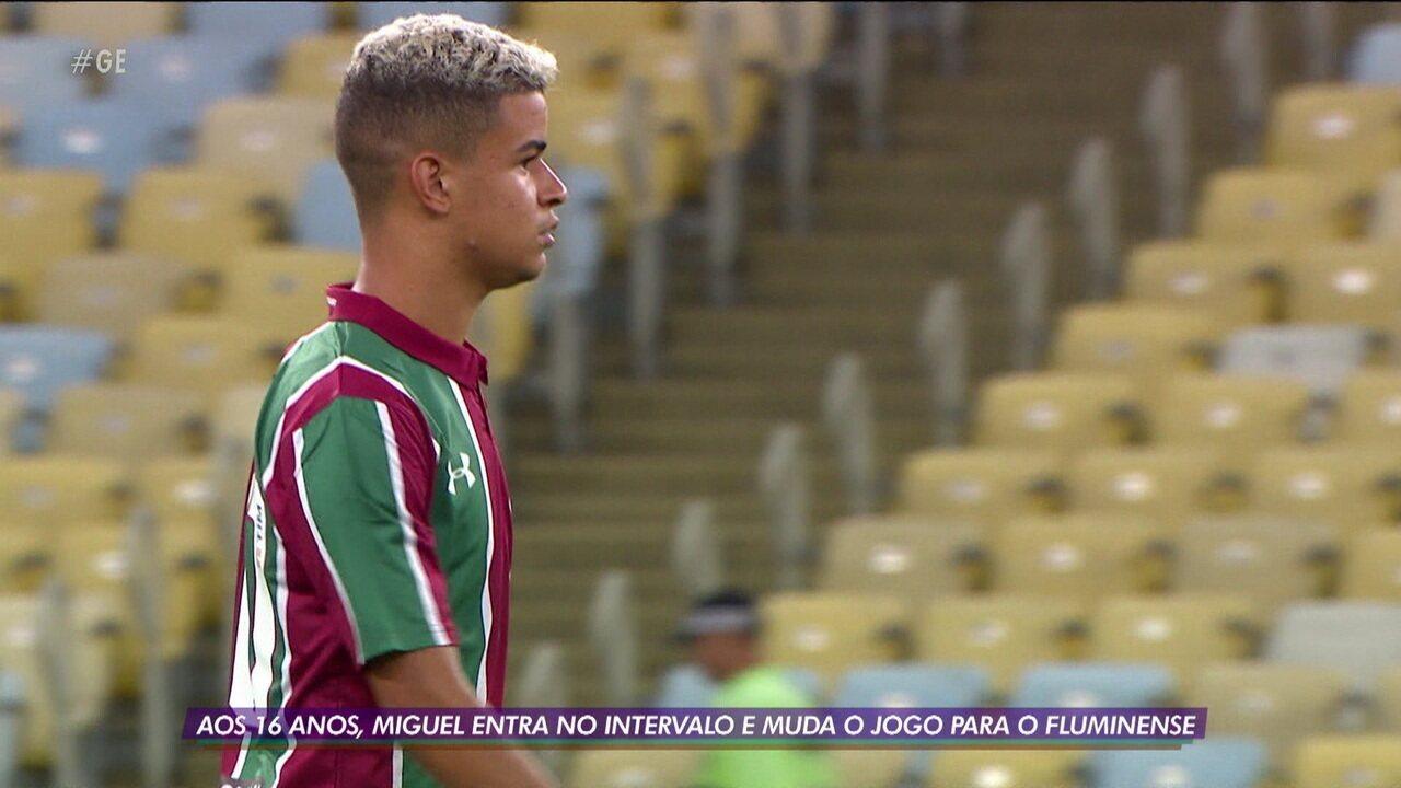 Miguel, de 16 anos, se destaca em vitória do Fluminense sobre a Portuguesa-RJ