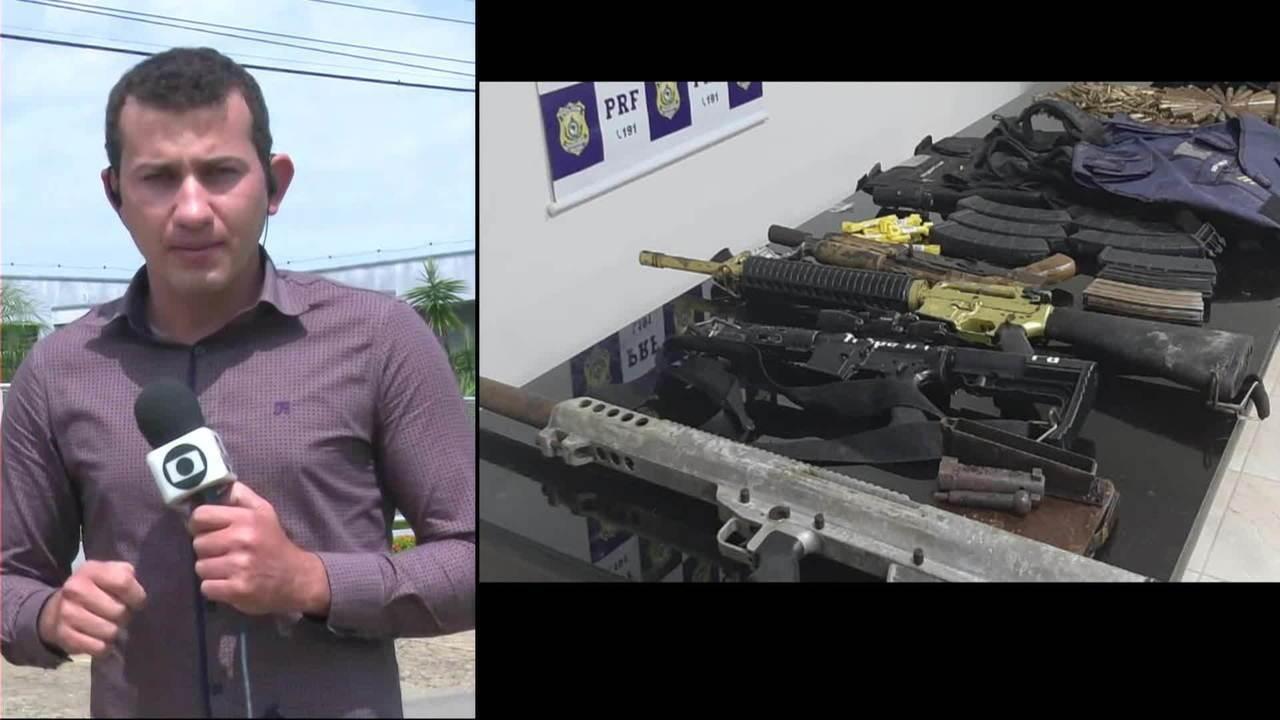 Polícia encontra arsenal com fuzis, munição e dinamite em Rondônia