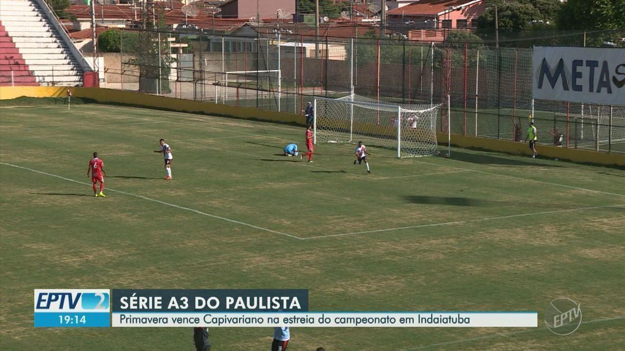 Primavera vence Capivariano na estreia do Campeonato Paulista A-3