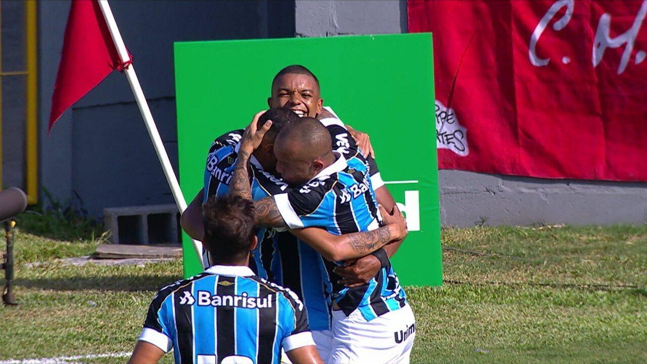 O gol de Brasil de Pelotas 0 x 1 Grêmio pela 2ª rodada do Campeonato Gaúcho