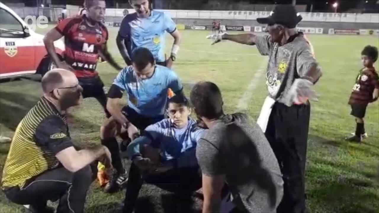Mesmo após passar mal, árbitro decide apitar partida do Campeonato Piauiense