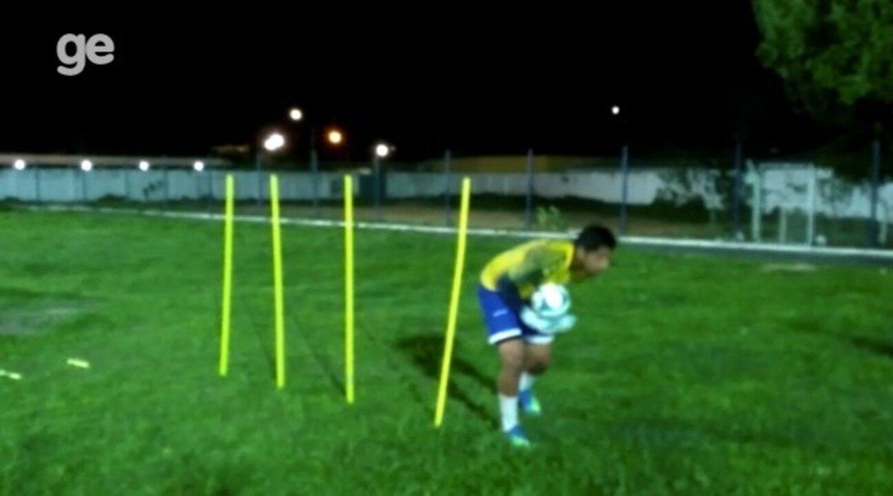 Após lesão na pré-temporada do Parnahyba, goleiro Mathheus retorna aos treinos