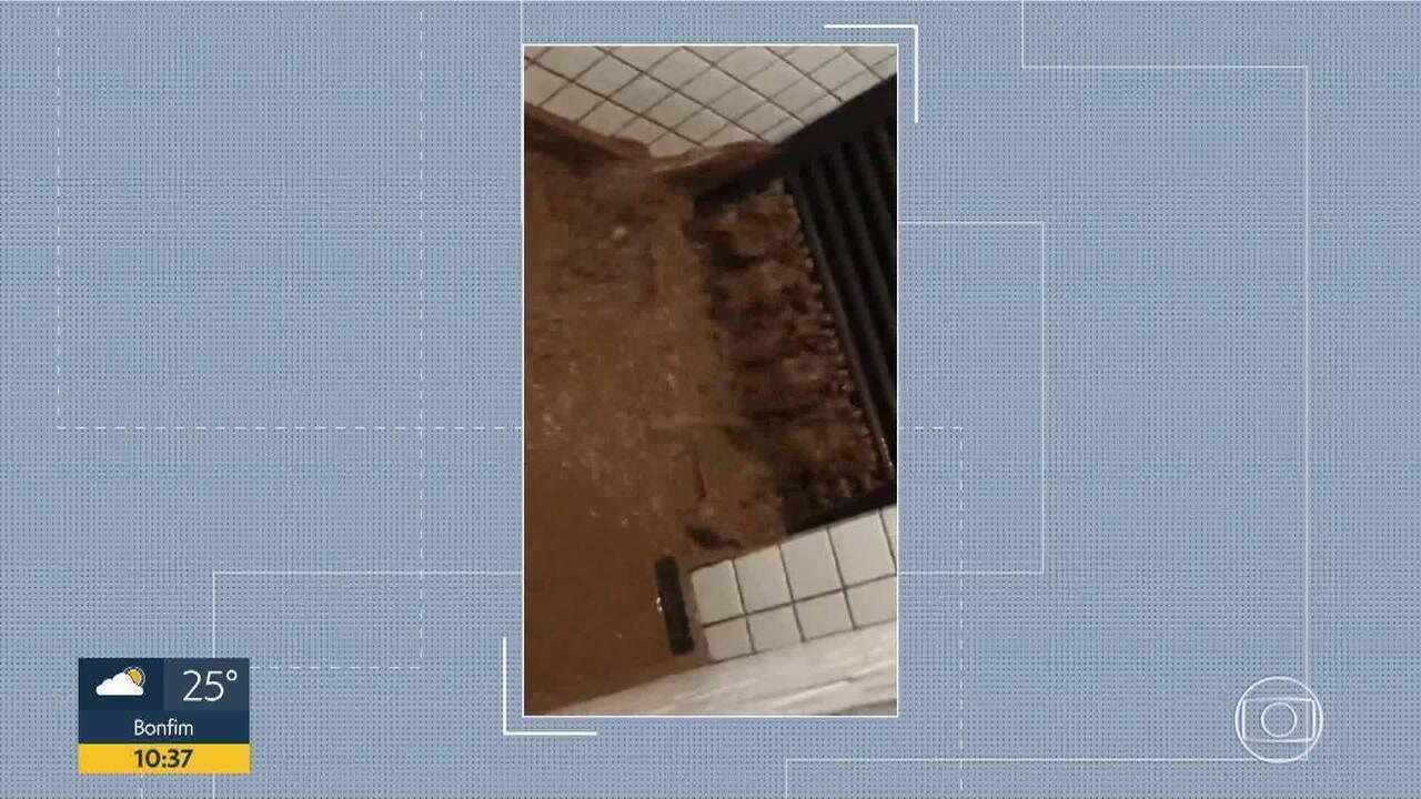 Estouro de cilindro em prédio da Região Centro-Sul de BH assusta moradores durante chuva