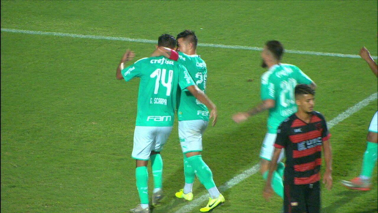 Os gols de Palmeiras 4 x 0 Oeste pela 3ª rodada do Campeonato Paulista