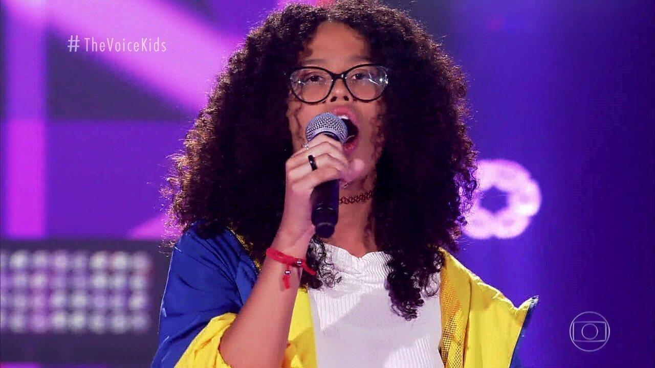 """Giovanna canta """"Onde Anda Você"""" nas Audições às Cegas"""