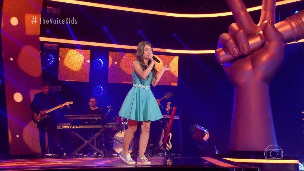 """Giovanna Diniz canta """"Onde Anda Você"""" nas Audições às Cegas"""