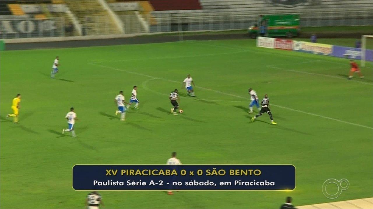 XV não aproveita vantagem numérica, empata com São Bento e aumenta seca na Série A2
