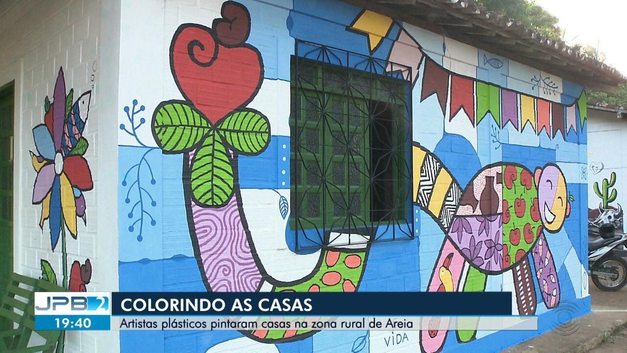 Jpb 2ª Edicao Tv Paraiba Artistas Plasticos Colorem Casas Na