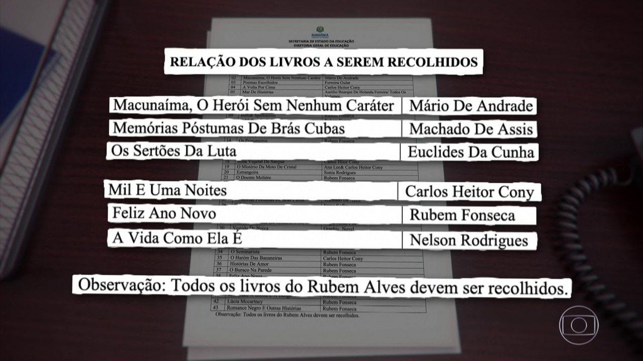 Governo de Rondônia manda escolas recolherem clássicos da literatura