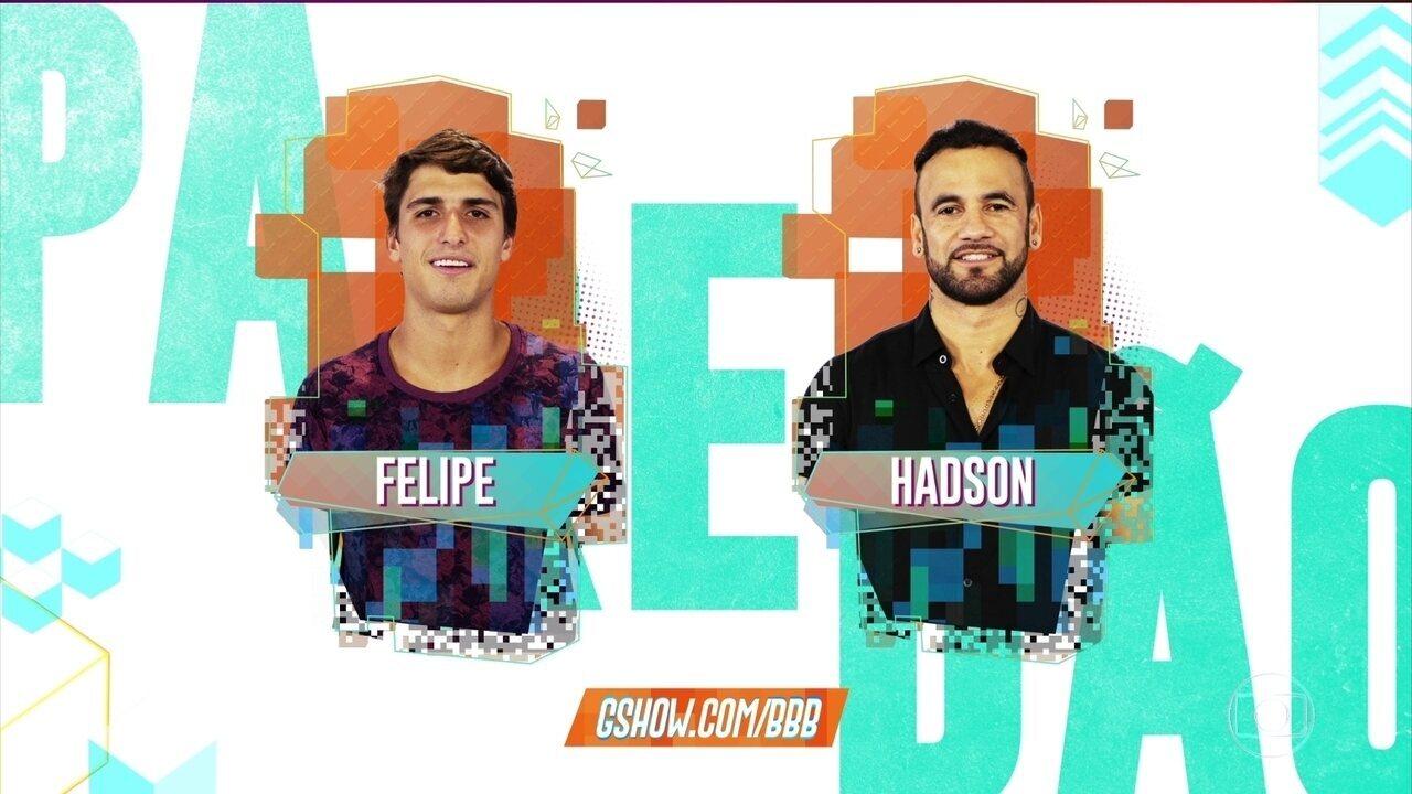 Felipe e Hadson se enfrentam no terceiro Paredão do BBB20