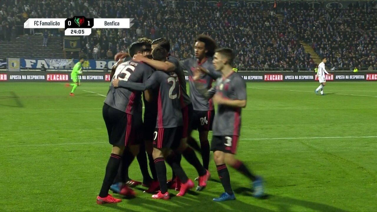 Os gols de Famalicão 1 x 1 Benfica pela Taça de Portugal