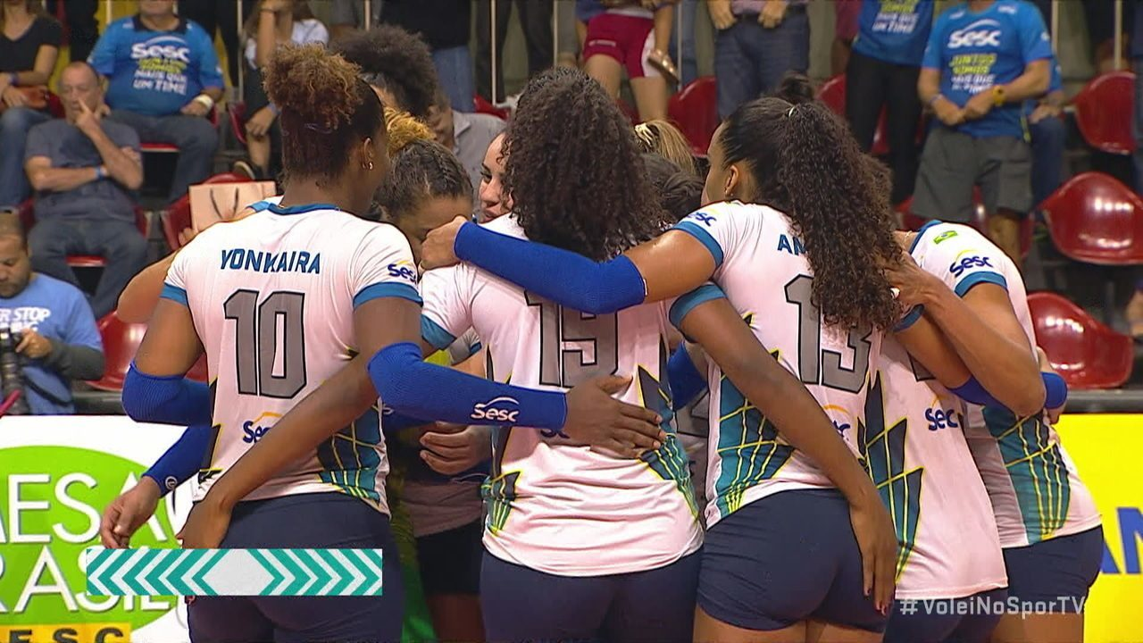 Pontos finais de Sesc-RJ 3 x 1 Osasco pela Superliga de vôlei feminino