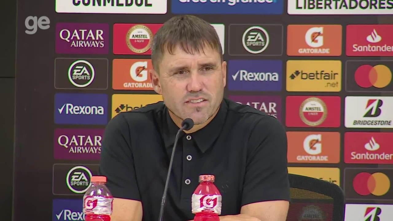 Confira a entrevista coletiva de Coudet e Marcos Guilherme após vitória contra La U