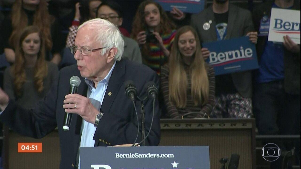 Eleições nos EUA: Sanders vence 2ª rodada para a escolha do candidato do partido democrata