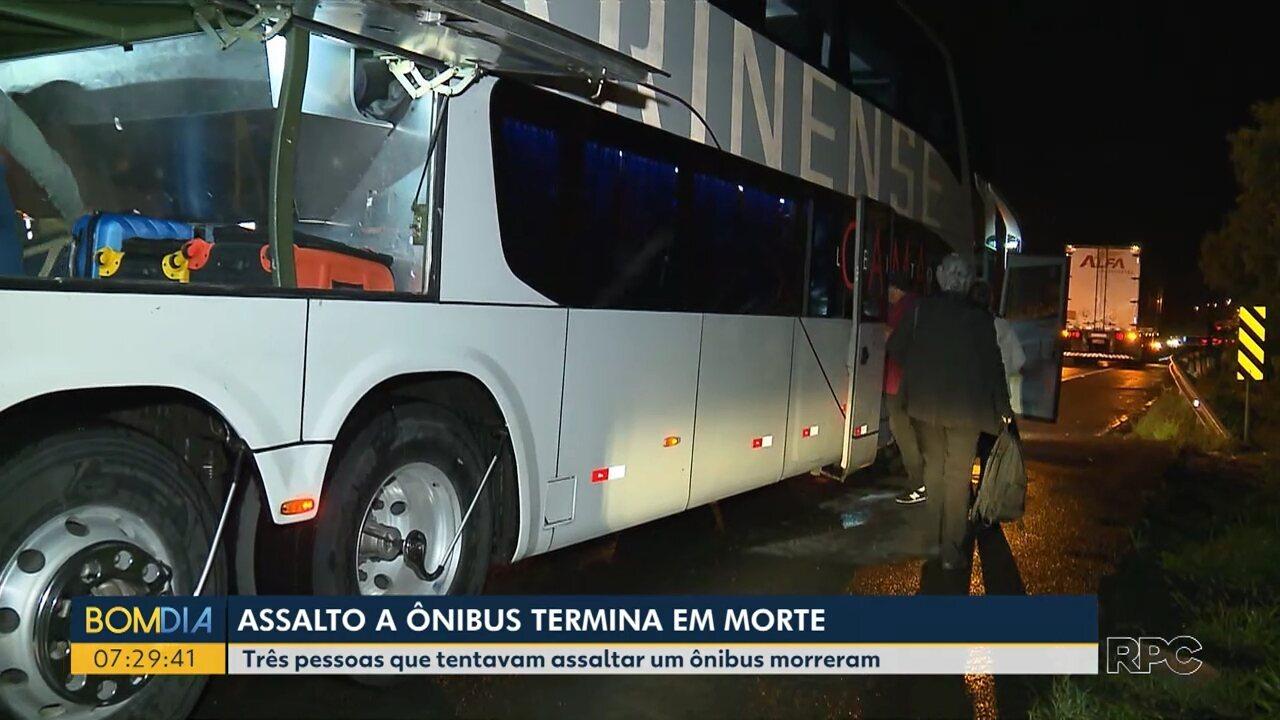 Assalto a ônibus termina em morte