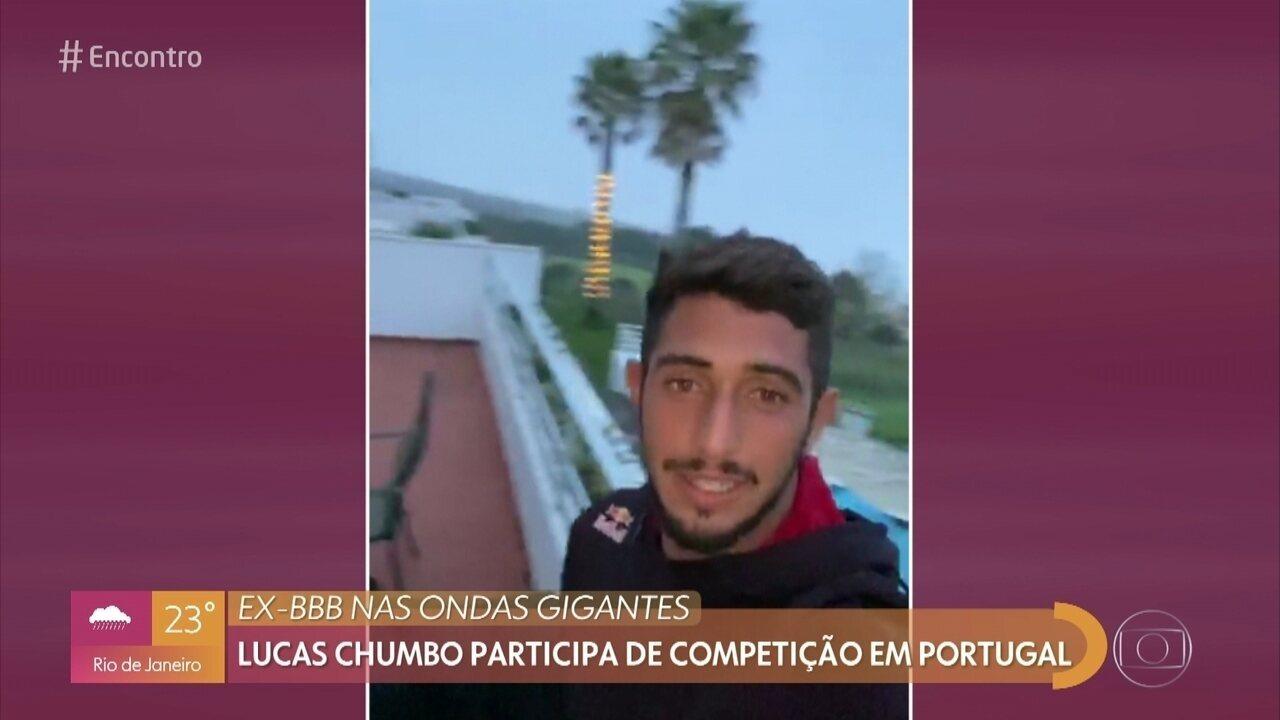 Lucas Chumbo comemora participação em campeonato de ondas gigantes em Nazaré