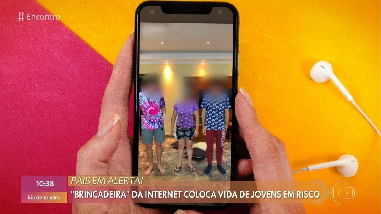 'Brincadeira' na internet coloca a vida de jovens em risco