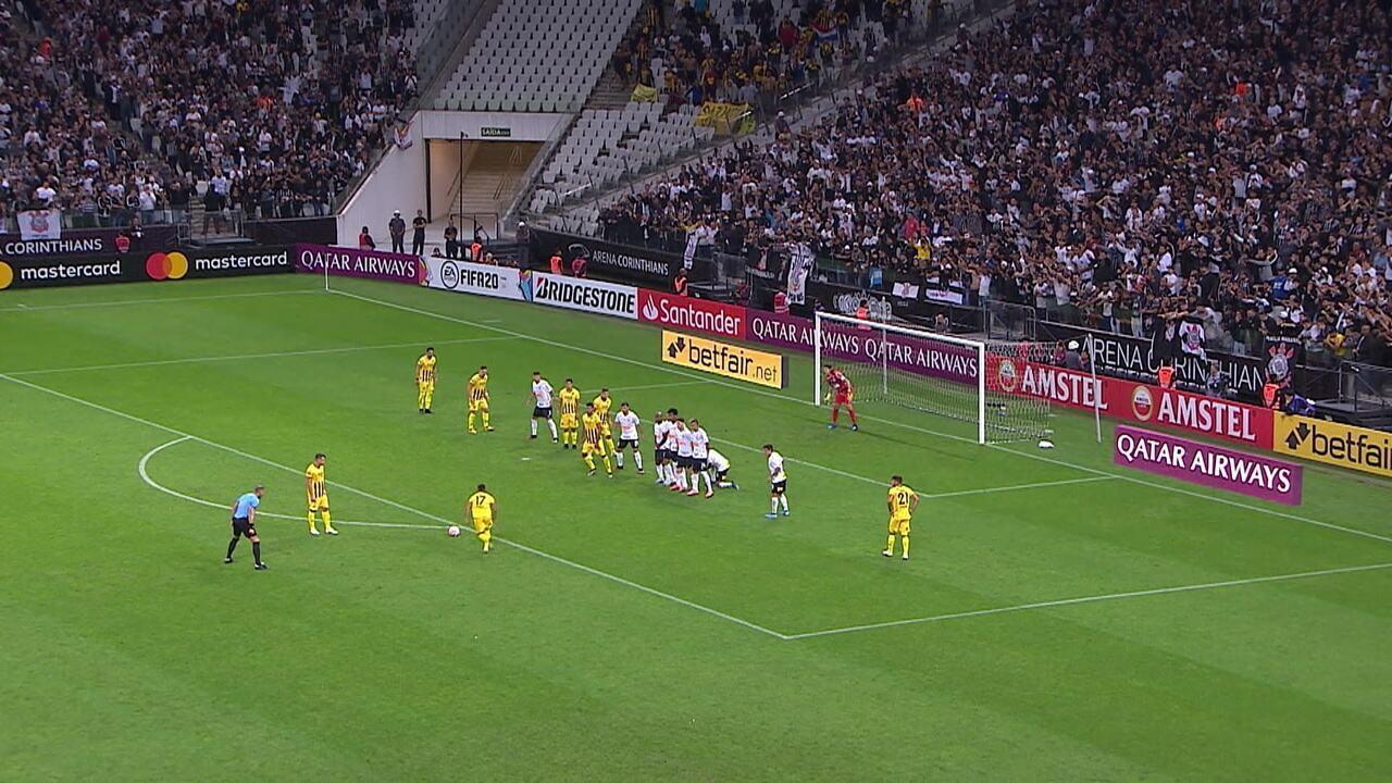Melhores momentos de Corinthians 2 x 1 Guaraní-PAR pela Libertadores